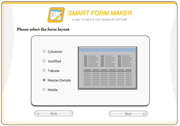 Smart Form Maker- Easy to use form generator for MySQL