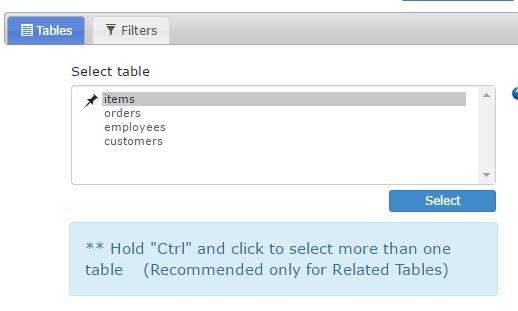 selecting MySQL table